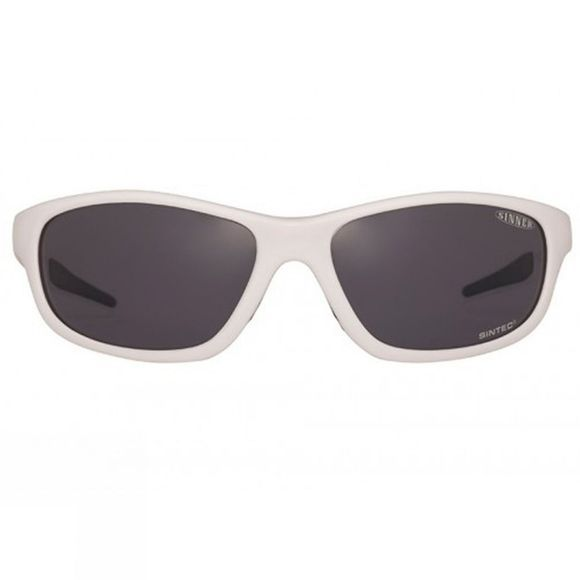 Sinner Rickard Polarised Sunglasses  Shiny White/Smoke