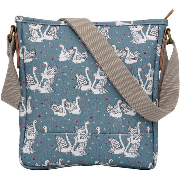 Brakeburn Womens Swans Cross Body Bag Blue