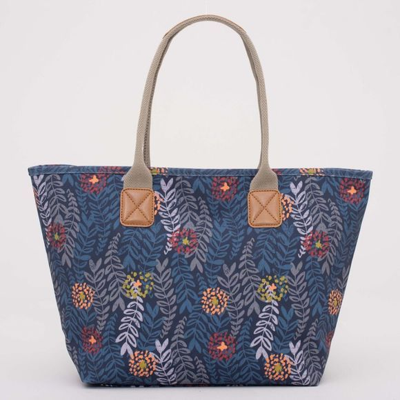 Brakeburn Womens Trailing Leaf Tote Bag Navy