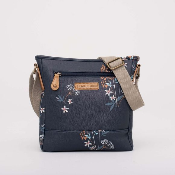 Brakeburn Womens Floral Cross Body Bag Grey