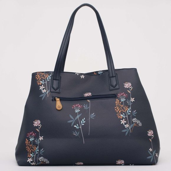 Womens Floral Magnetic Clasp Handbag