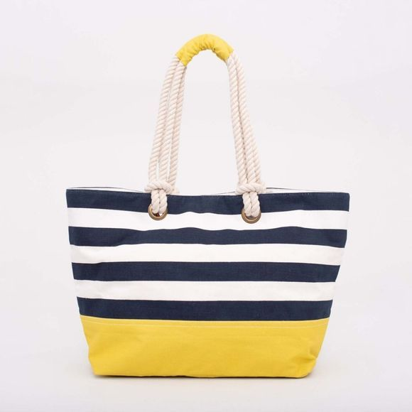 Brakeburn Beach Bag Black Stripe
