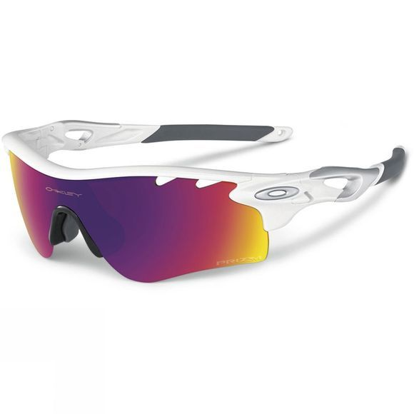 Oakley Radarlock Path Sunglasses Polished White w/ Prizm Road Persimmon V