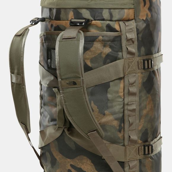The North Face Base Camp Duffle Bag Medium Burnt Olive Green Waxed Camo Print/Burnt Olive Green