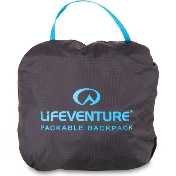 Lifeventure Travel Light Packable Backpack 16L Black