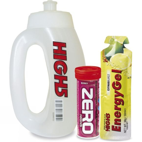 High 5 Run Bottle Zero 10 Hydration & Energy Gel Citrus No Colour