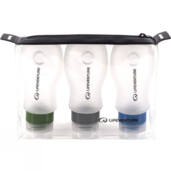 Lifeventure Silicone Travel Bottles Assorted