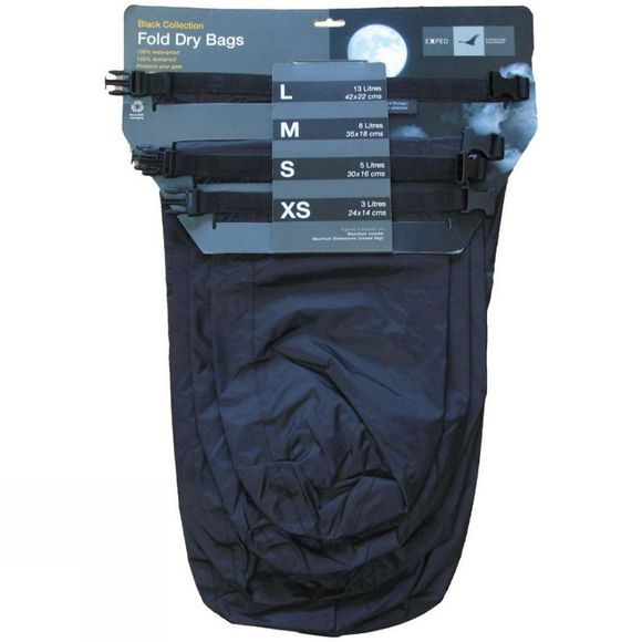 Exped Exped Fold-Drybags Black 4 Pack Black