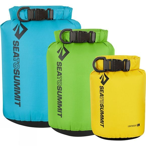 Sea to Summit Lightweight Dry Sack 3 Piece Set Blue, Green, Red