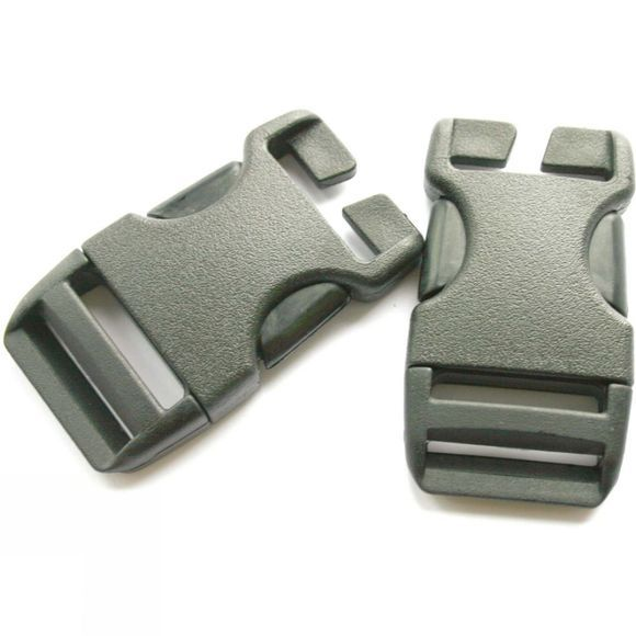 Lowe Alpine 25mm QA Side Squeeze Buckles (x50 in Jar) Black