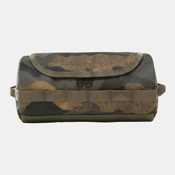 The North Face Base Camp Travel Canister (Small) Burnt Olive Green Waxed Camo Print/Burnt Olive Green