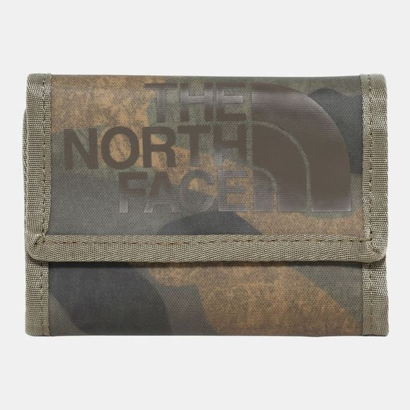 The North Face Base Camp Wallet Burnt Olive Green Waxed Camo Print/Burnt Olive Green