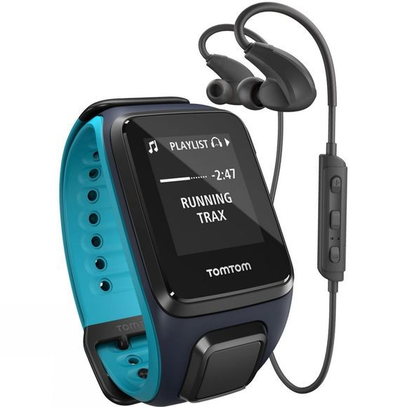 TomTom Runner 2 Music + Cardio Bundle Sky Captain Blue/Skuba Blue