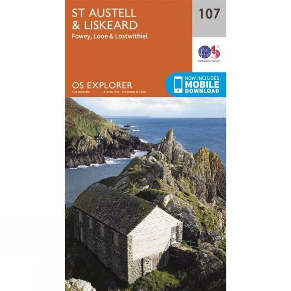 Ordnance Survey Explorer Map 107 St Austell and Liskeard V15