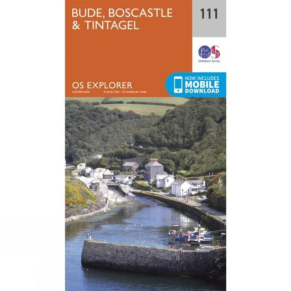 Ordnance Survey Explorer Map 111 Bude, Boscastle and Tintagel V15