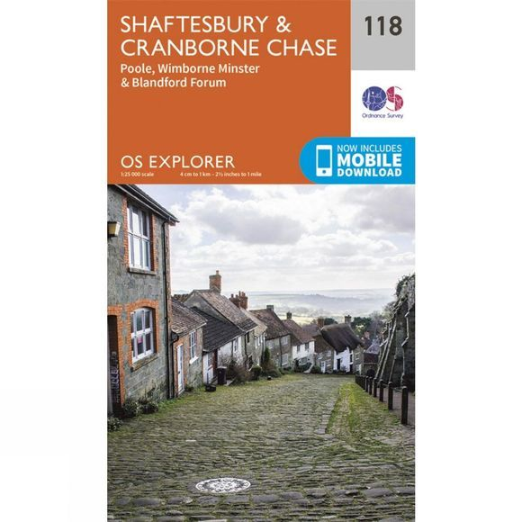 Explorer Map 118 Shaftesbury and Cranborne Chase