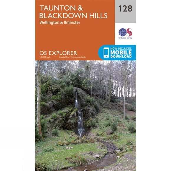 Ordnance Survey Explorer Map 128 Taunton and Blackdown Hills V15