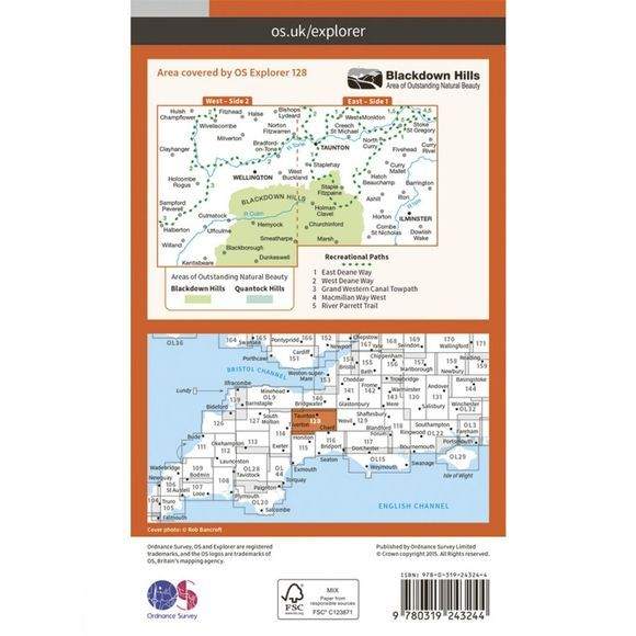 Explorer Map 128 Taunton and Blackdown Hills