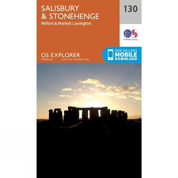 Ordnance Survey Explorer Map 130 Salisbury and Stonehenge V15