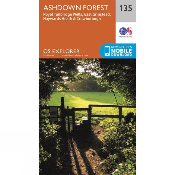 Explorer Map 135 Ashdown Forest