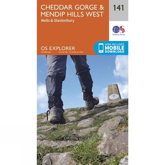 Explorer Map 141 Cheddar Gorge and Mendip Hills West