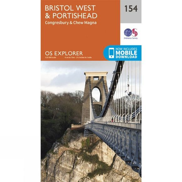 Ordnance Survey Explorer Map 154 Bristol West and Portishead V15