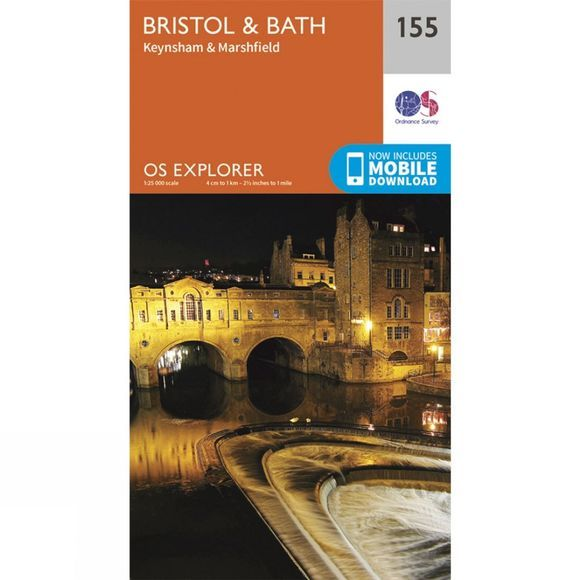Ordnance Survey Explorer Map 155 Bristol and Bath V15