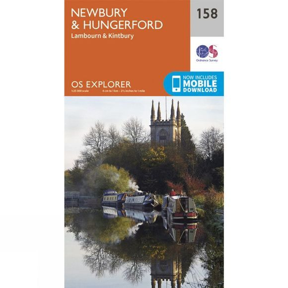 Ordnance Survey Explorer Map 158 Newbury and Hungerford V15