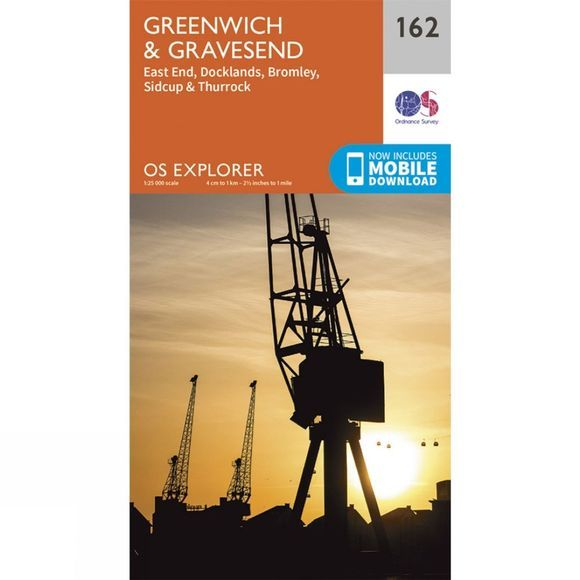 Ordnance Survey Explorer Map 162 Greenwich and Gravesend V15