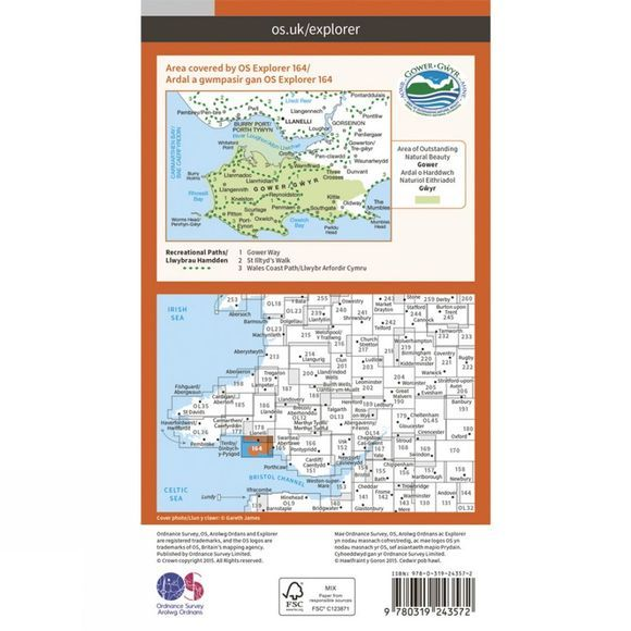 Explorer Map 164 Gower