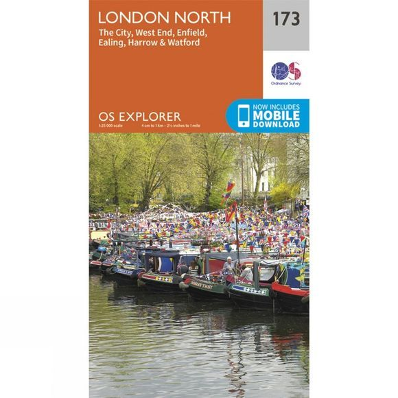 Ordnance Survey Explorer Map 173 London North V15