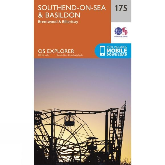 Ordnance Survey Explorer Map 175 Southend-on-Sea and Basildon V15