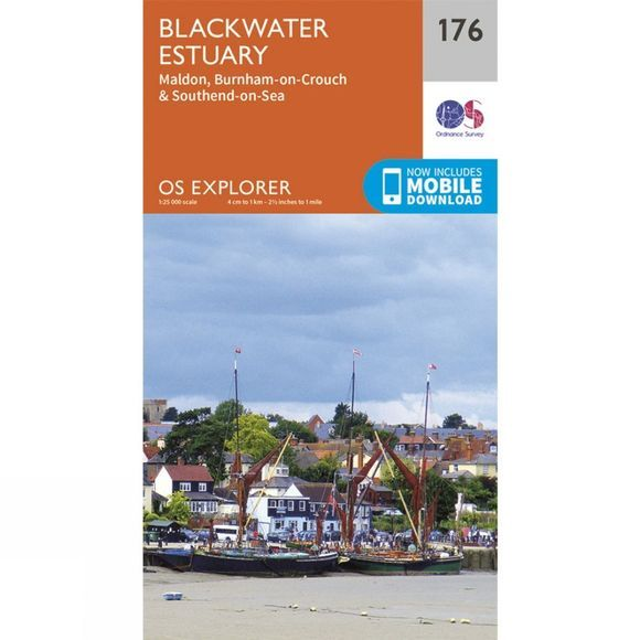 Ordnance Survey Explorer Map 176 Blackwater Estuary V15
