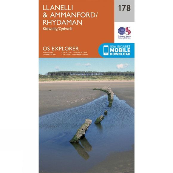 Explorer Map 178 Llanelli and Ammanford