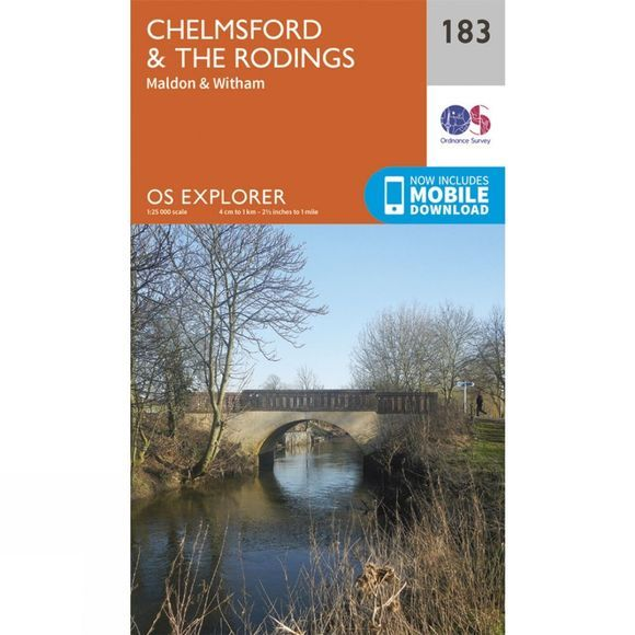 Ordnance Survey Explorer Map 183 Chelmsford and The Rodings V15