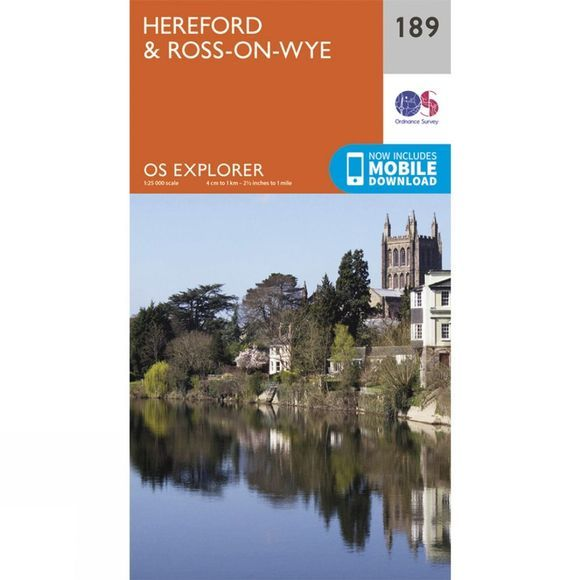 Ordnance Survey Explorer Map 189 Hereford and Ross-on-Wye V15