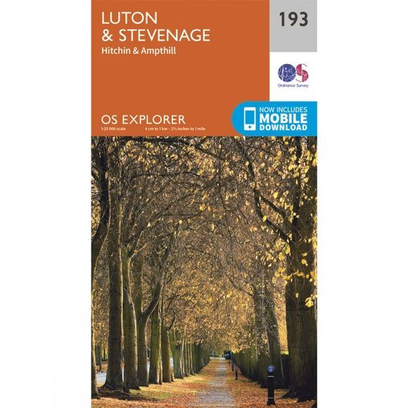 Explorer Map 193 Luton and Stevenage