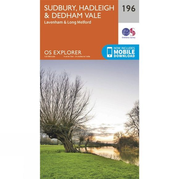Ordnance Survey Explorer Map 196 Sudbury, Hadleigh and Dedham Vale V15