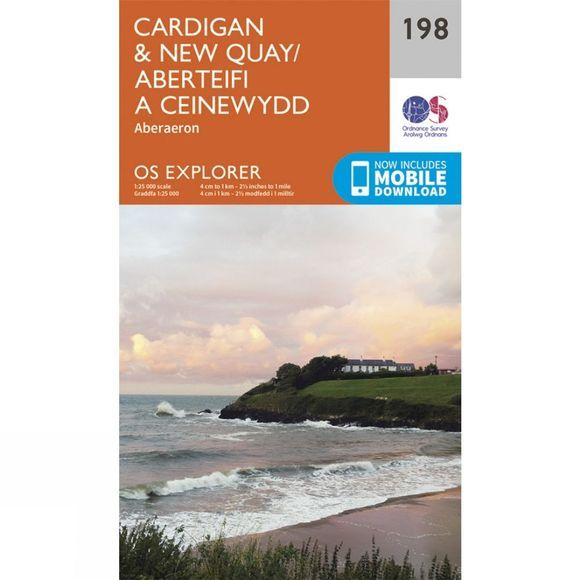 Ordnance Survey Explorer Map 198 Cardigan and New Quay V15