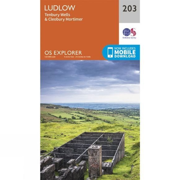 Ordnance Survey Explorer Map 203 Ludlow V15