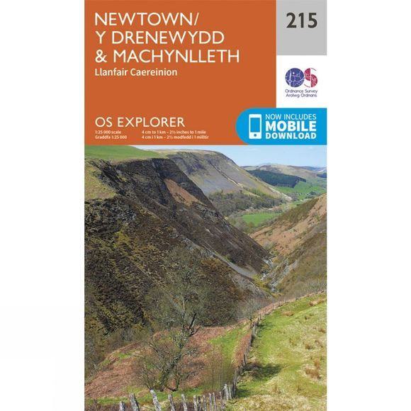 Explorer Map 215 Newtown and Machynlleth