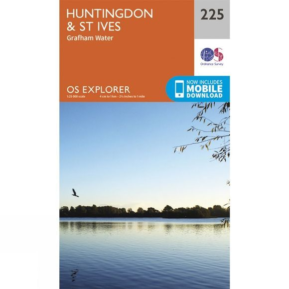 Explorer Map 225 Huntingdon and St Ives