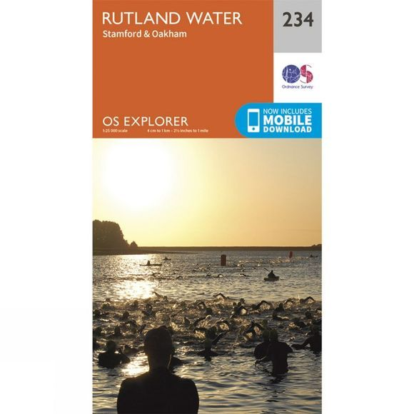 Ordnance Survey Explorer Map 234 Rutland Water V15