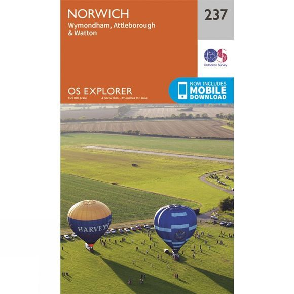 Ordnance Survey Explorer Map 237 Norwich V15