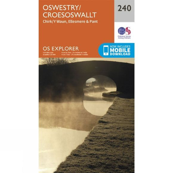 Ordnance Survey Explorer Map 240 Oswestry V15