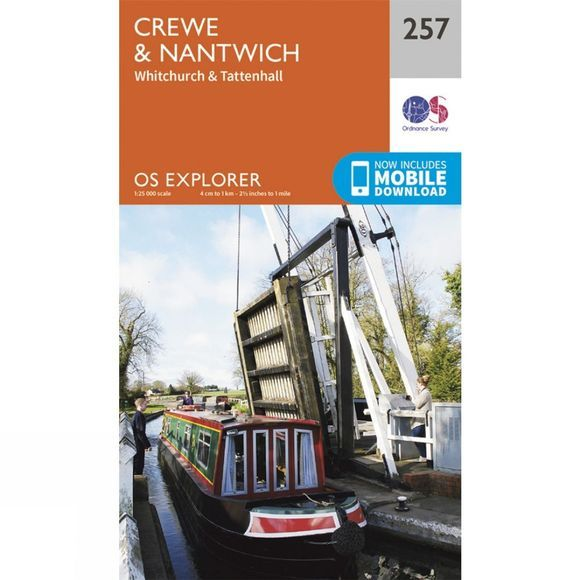 Ordnance Survey Explorer Map 257 Crewe and Nantwich V15