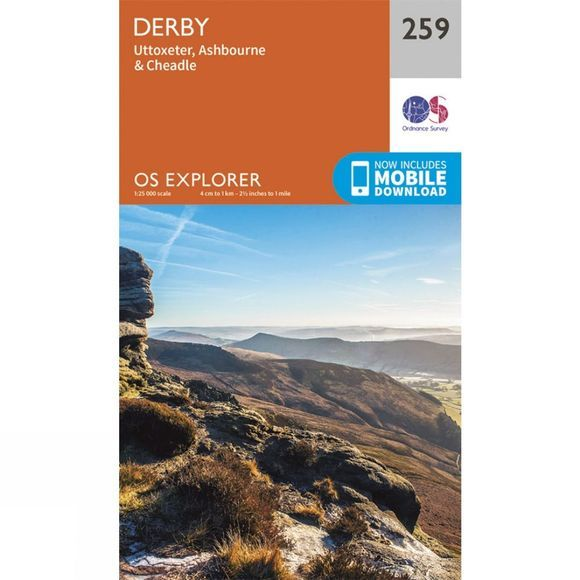 Ordnance Survey Explorer Map 259 Derby V15