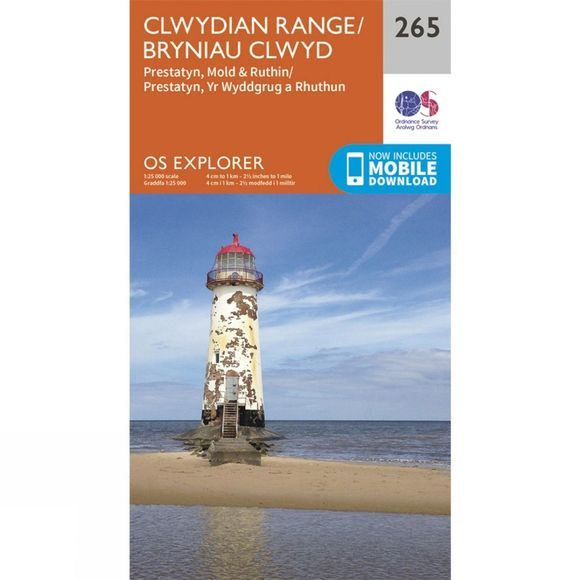 Ordnance Survey Explorer Map 265 Clwydian Range V15