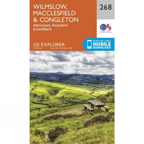 Explorer Map 268 Wilmslow, Macclesfield and Congleton
