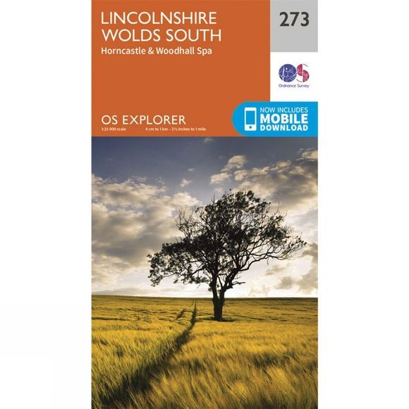 Ordnance Survey Explorer Map 273 Lincolnshire Wolds South V15